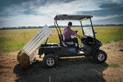 Cushman golf carts for work around the farm