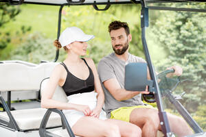 Use Your Golf Cart on Valentines Day