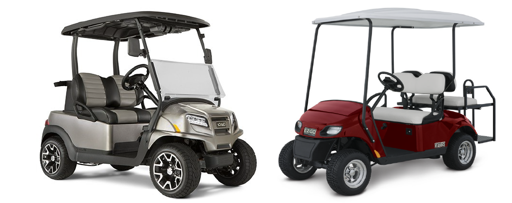 Club Car vs. EZGO Banner